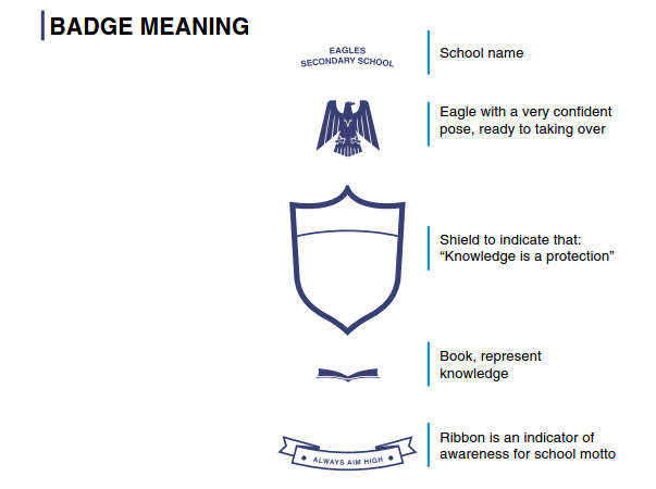 Eagles Secondary School badge meaning